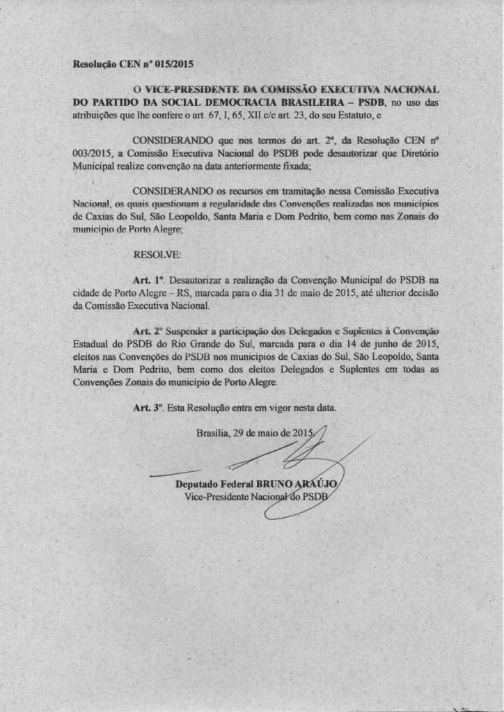 Resolução CEN nº 15-2015